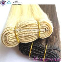 Высокое качество двойной рассвет 100% Реми волос расширение блондинка русские волосы