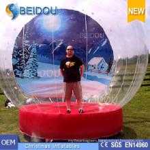 Durable PVC Giant Photo Inflatable Christmas Human Snow Globe