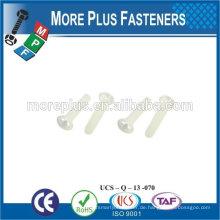 Made in Taiwan Hochwertige Phillips Flachkopfschraube für Nylong Schraube für Kunststoff