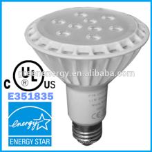 ul certified IP65 COB 3000k 11 watt 840LM 120v led par 30