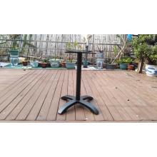 cast aluminum table base black color