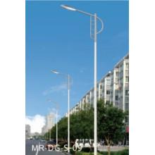 Poteau de lampadaire solaire 5m avec bras unique