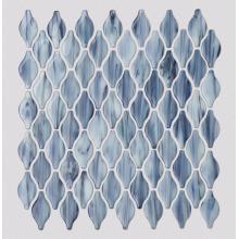 Blue Art Mosaic Wall Tiles For Living Room