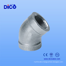 Made in China Casting SUS 304 Pipe Fittings 45 Degree Elbow
