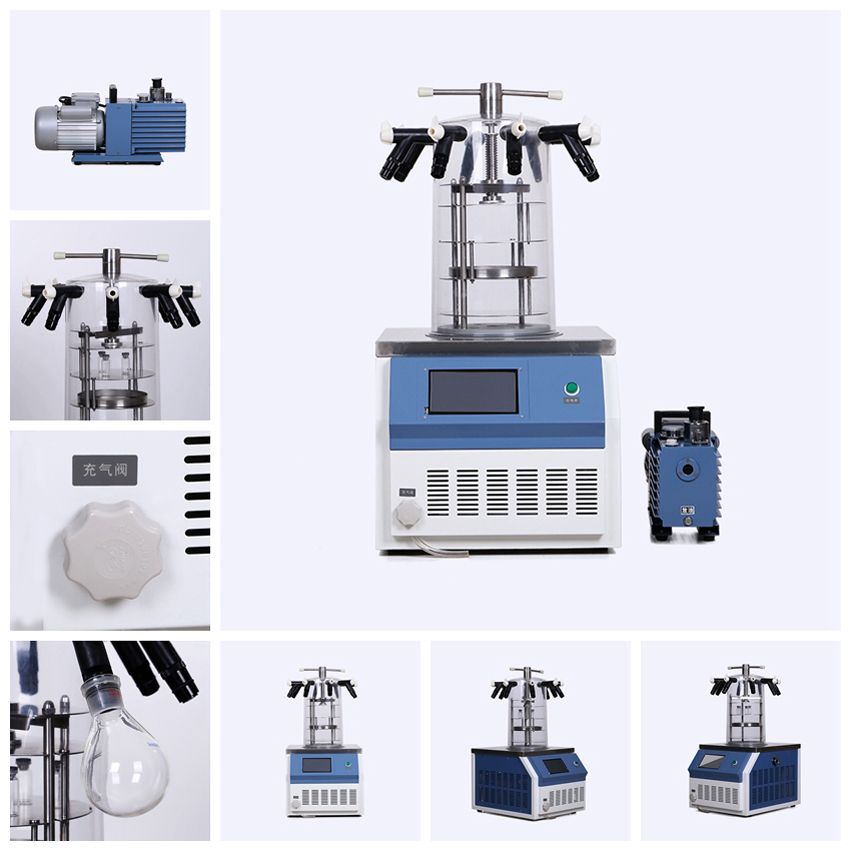 Laboratory Mini Desktop Electric Heating Bell Lyophilizer