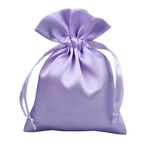 purple satin bag pouch