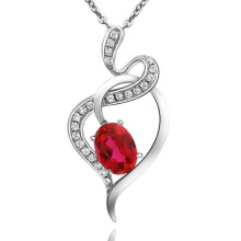Spirit of The Dance Jiao Niang Red Ruby Pendant 925 Silver Jewelry