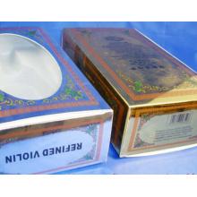 Boîtes en papier / boîte d'emballage / boîte à cartes en argent