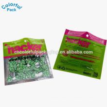 2016 pestañas de plástico suave personalizada señuelos cebo bolsa de pesca
