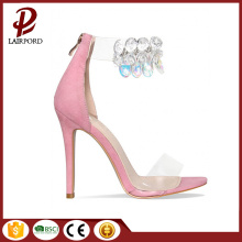 Nouvelle mode rose sweet sequins sandales femme