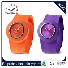 Fashion Waterproof Silicone Bracelet Slap Quartz Wrist Watch (DC-534)