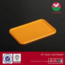 Couvercle de récipient de nourriture en plastique (sk-couvercle orange)