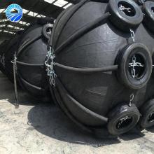 Défense gonflable de bateau en caoutchouc de plate-forme de forage