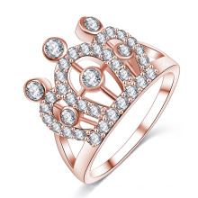 Anel de dedo cz diamante rainha imperial coroa (cri01003)
