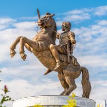 Esculturas de cavalo bronze antigo decoração de jardim