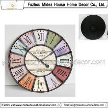 Décoration intérieure Logo fini Logo Horloge murale en bois