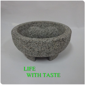 15.5*8cm Footed Granite Stone Mortar and Pestle