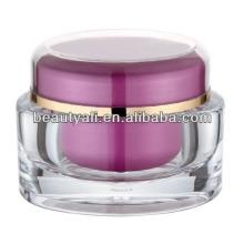 Embalaje de envase de 50 g de crema cosmética ovalada PMMA