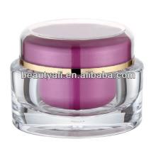 Oval Acrylic Cosmetic Packaging Cream Jar