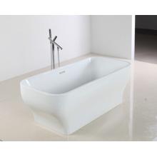 Glatte Oberfläche Schöne Form Acryl Badewanne in freistehender Stil