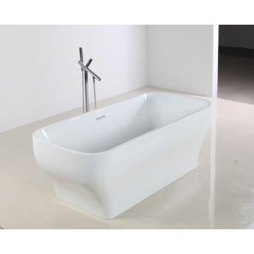Elegante superficie hermosa forma de bañera de acrílico en estilo independiente