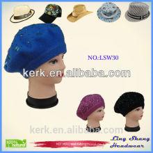 Frauen Beanie Knit Ski Cap Hip-Hop Farbe Winter Warm Unisex Wolle Hut