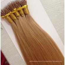 L'enchevêtrement de qualité supérieure et l'excrétion des cheveux russes nano extension de cheveux d'anneau à vendre
