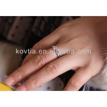 Novo produto 925 prata esterlina anel de casamento de diamante