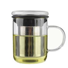 Tasse de thé de verre de borosilicate résistant à la chaleur professionnelle de LFGB 350ml en gros avec le filtre