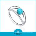 2015 Fashion Diamond Wholesale Women Ring with Green Stone (R-0392)