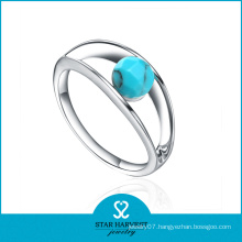 Fine Quality Silver Turquoise Wedding Rings