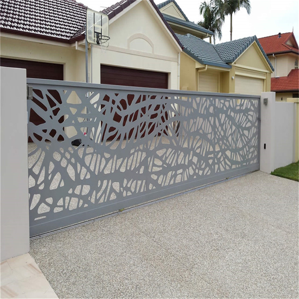 Modern Decorative Laser Cut Metal Garden Gates