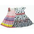 Blumen-Mädchen-Kleid in den Kindern tragen (SQD-130-131)