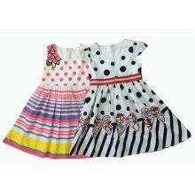 Vestido de niña de flores en desgaste de los niños (sqd-130-131)