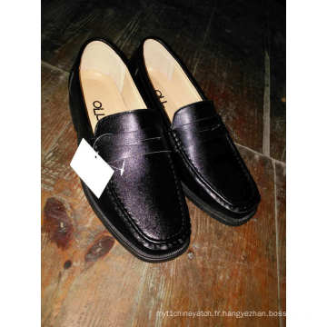 Hommes cuir bout rond chaussures footware injection adulte travail