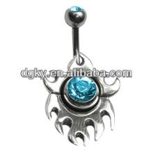 Dangle barriga botão anéis personalizado piercing corpo jóias