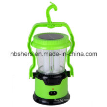 Solar Dual-Function 8 LED Camping Lantern 1 LED Torch