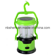 Solar de dupla função Lanterna de camping de 8 LED 1 Tocha de LED
