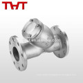 cast steel flanged y type slurry strainer for oil gas water