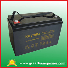Batterie profonde de chariot de golf de batterie de plancher de la batterie AGA de plancher de cycle de 110ah 12V