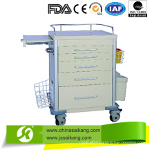 Emergency Drugs Trolley with Casters