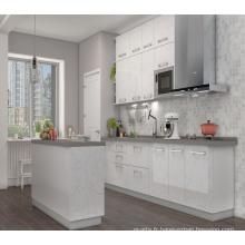 2017 Pole White MDF Lacquer Kitchen Cabinet