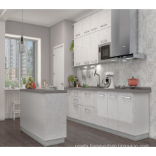 2017 Pole White MDF Lacquer Kitchen Cabinet