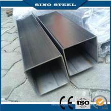 Tuyau en acier rectangulaire soudé par structure métallique de haute qualité
