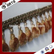 Frange décorative en perles en dentelle pour textiles maison