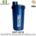 700ml botella de la coctelera de proteína, polvo de plástico botella de agua de la coctelera (HDP-0318) modificado para requisitos particulares