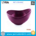 Purple Big Mouth Shape Porcelain Salad Bowl