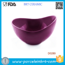 Bol à salade en porcelaine à la forme Big Purple Shape