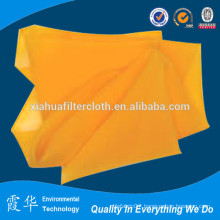 Yellow polyester plain raw silk material