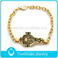 2017 Popular Sale Gold Bracelet Design Jesus on The Cross Black Images